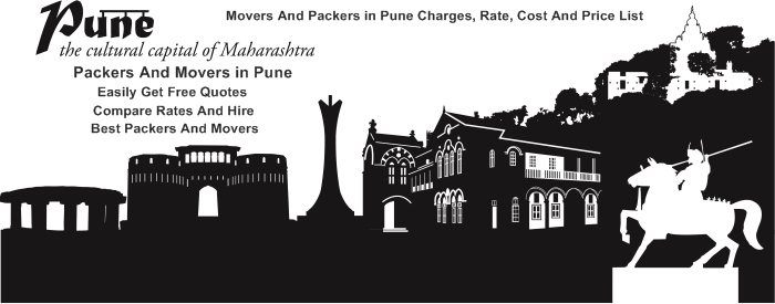 Packers and Movers Pune Rates, Charges, Prices, Cost Lists And Estimates