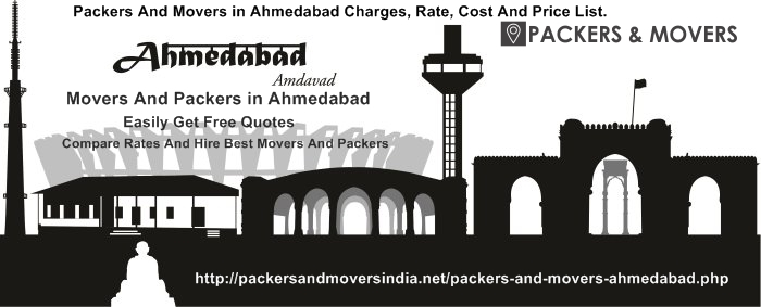 Packers and Movers in Ahmedabad with Rates, Charges, Prices, Costs